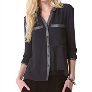 Helmut Lang Soft Shroud Button-Down Blouse